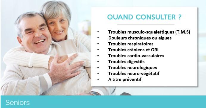 Ostéopathe spécialisé dans le traitement des troubles des séniors, personnes âgées pour garder une autonomie maximale